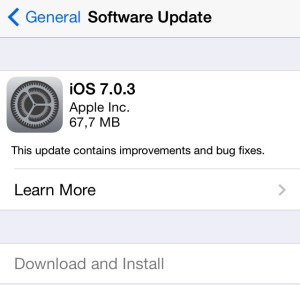 Update new version iOS 7.0.3 free for iPad, iPod, iPhone 4S, iPhone 5